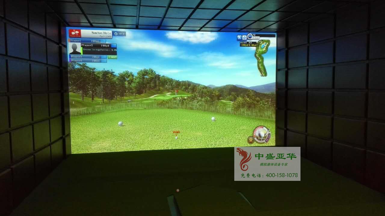 喜报:北京西三环某会所室内高尔夫验收交付使用!