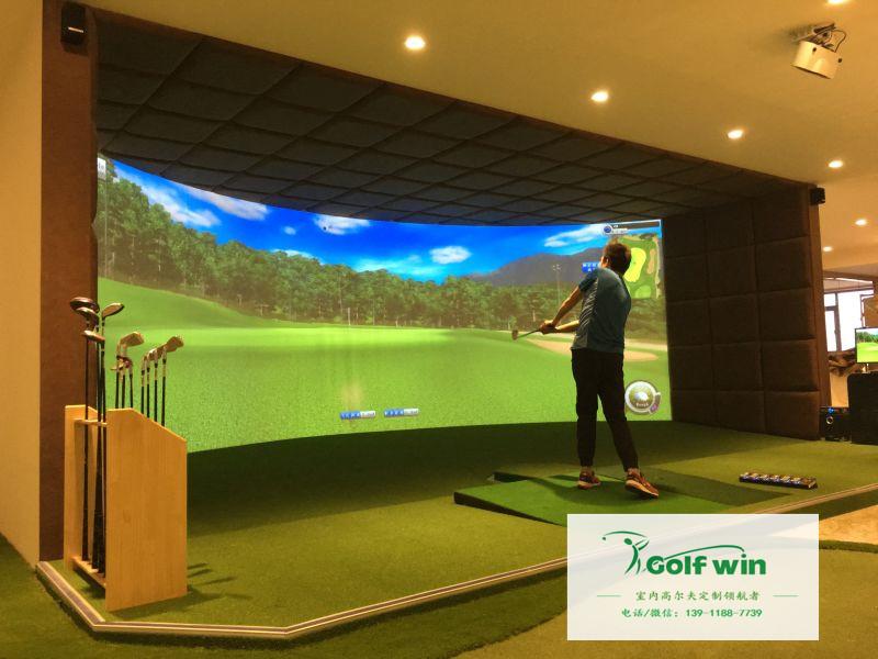 超清环屏高尔夫模拟器打球视频