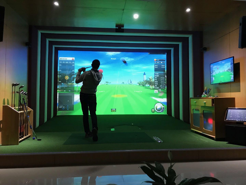 超清单屏高尔夫打球视频